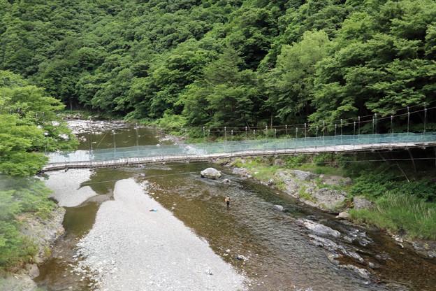 山田線の車窓(閉伊川)