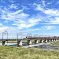 多摩川の秋空 京王線多摩川橋梁