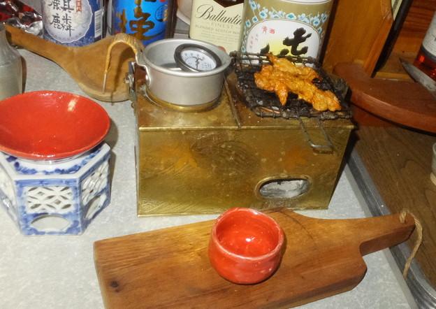 燗銅壺と花見