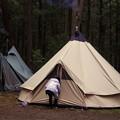連泊のテント