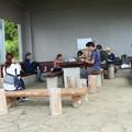 今朝の富幕山休憩舎先日の(T)さんも来ました。