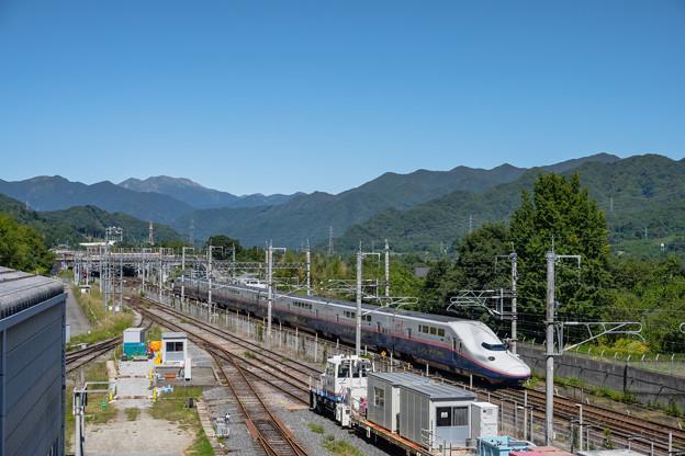 谷川岳と新幹線