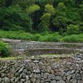 傾斜地の石垣