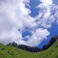 尾根の上の雲