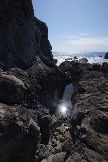 潮溜まりの太陽
