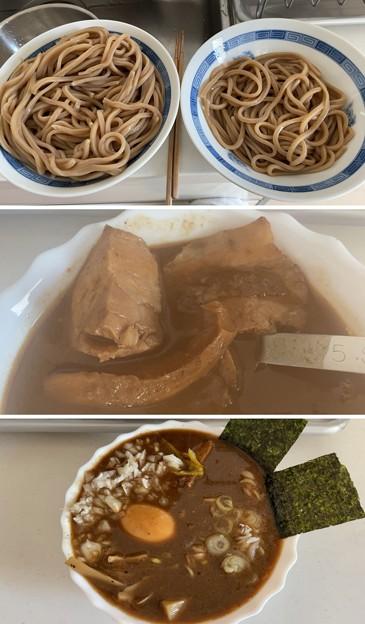 とみ田4――淡路島たまねぎ + 讃岐コーチン6味玉 + 長野メンマ