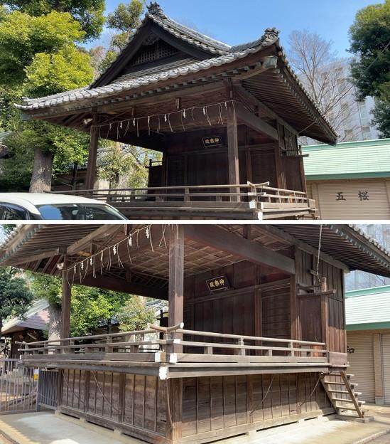 志村城(城山熊野神社。板橋区)神楽殿