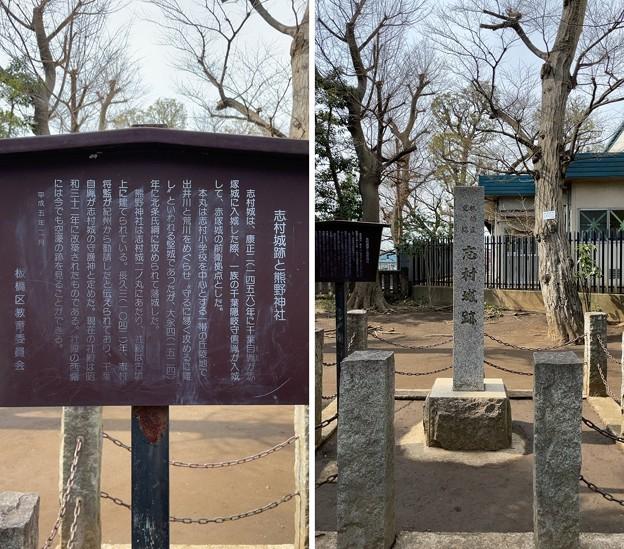 志村城(城山熊野神社。板橋区)城跡碑