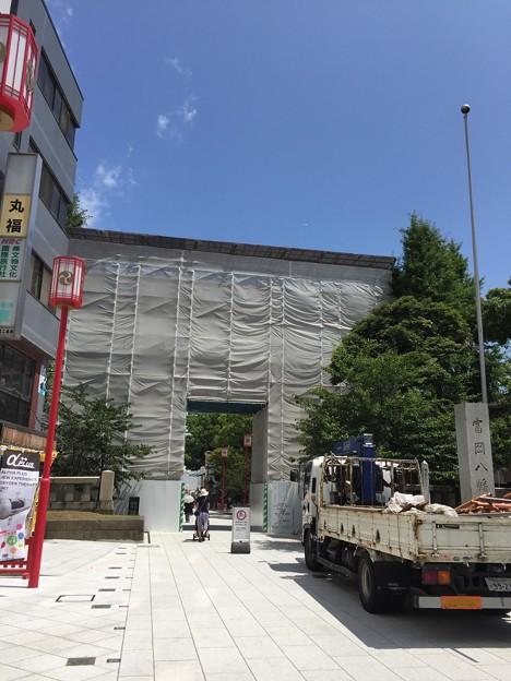 17.07.13.富岡八幡宮(江東区)大鳥居……