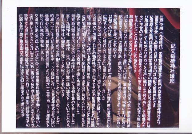 05.04.06.紀文稲荷神社説明板(江東区佐賀)