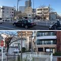 Photos: 五間堀跡(上・北 墨田区、下・南 江東区)