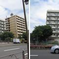 新大橋通り 北向は墨田区(江東区住吉。 菊川橋西詰および東詰南側)