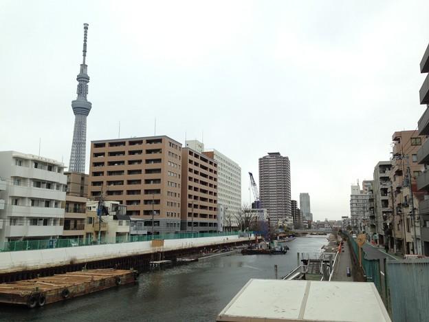 横十間川 天神橋東詰北側(江東区亀戸)