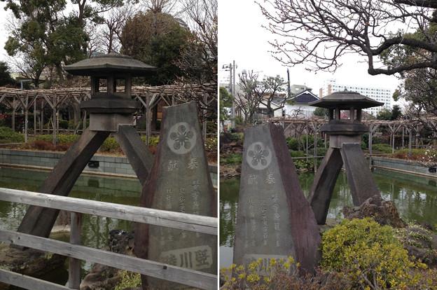 亀戸天神社(江東区亀戸)琴柱灯籠