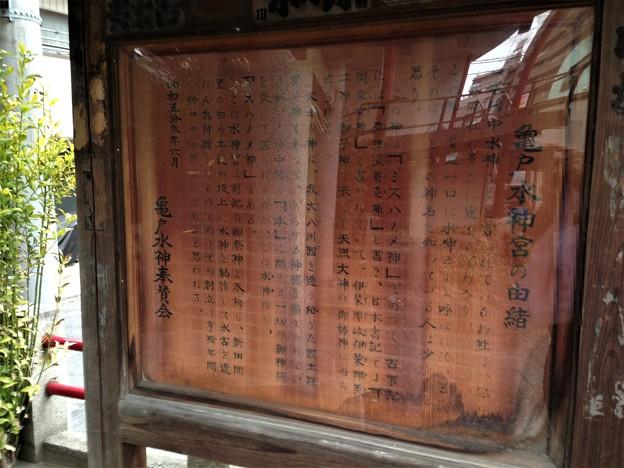 亀戸水神宮(江東区)水神森碑