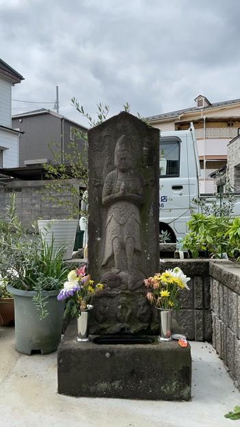 赤塚城跡南西(板橋区)安政8年庚申塔