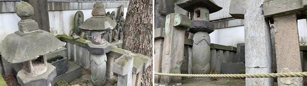 乗蓮寺(板橋区)板橋信濃守忠康墓付石灯籠
