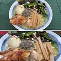 サッポロ一番塩ラーメン + 伊達鶏 + 国産メンマ + 淡路島たまねぎ