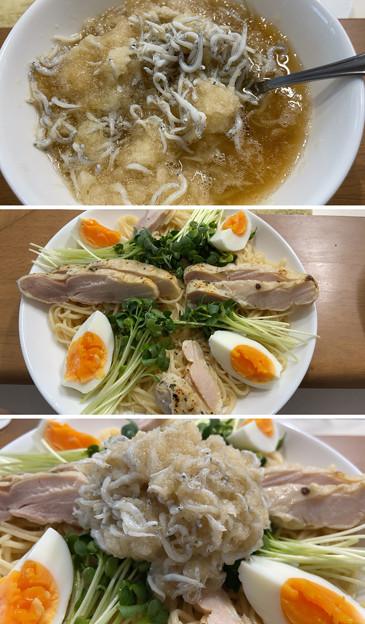 佐賀 山ん鶏ローストチキン2――九州 冷やし中華 シークヮーサースープ