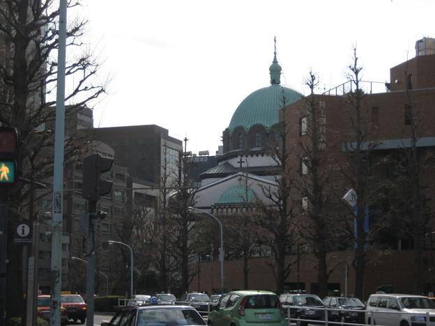 聖橋より南(千代田区)前方 ニコライ堂