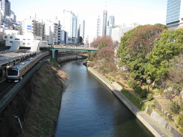 聖橋より西(千代田区文京区境界)前方 お茶の水橋