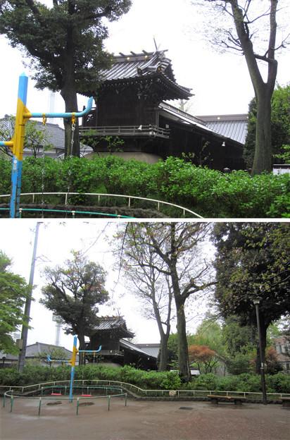 12.04.23.白山公園より(白山5丁目)白山神社本殿