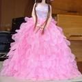 Photos: ピンクプリンセス披露宴ドレスを着たシオン