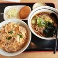 Photos: 山田うどん 日替わり 豚玉丼セット カレーコロッケ