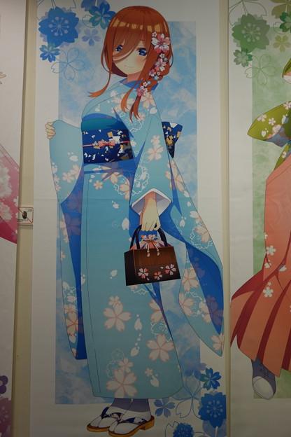 五等分の花嫁∬ 三玖 桜和装ver. 等身大タペストリー