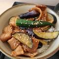 Photos: ミニ肉茄子丼