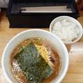 麺屋ひばり チーズ入り ピリ辛みそ麺 ライス