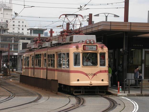 #9043 広島電鉄3006F 2003-8-27