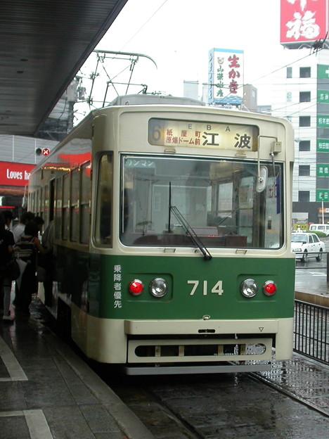 Photos: #9063 広島電鉄C#714 2003-8-28