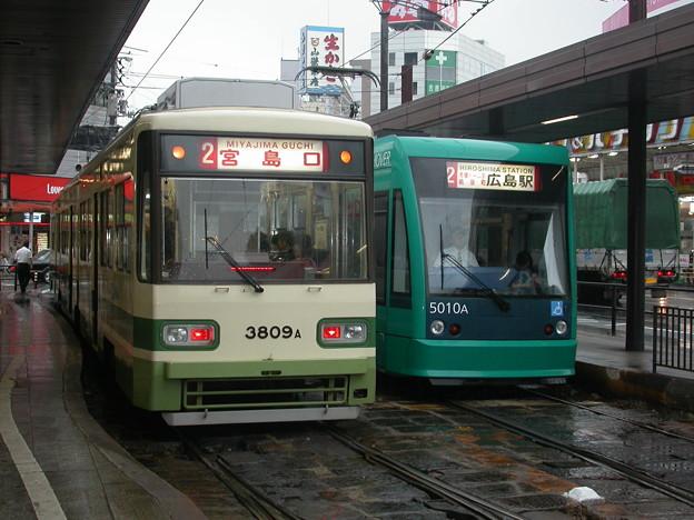 #9070 広島電鉄3809F・5010F 2003-8-28