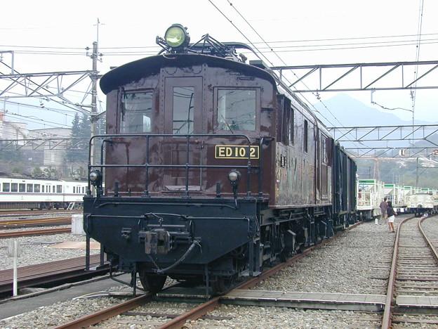 #9162 旧国鉄ED10 2+貨車 2002-10-19