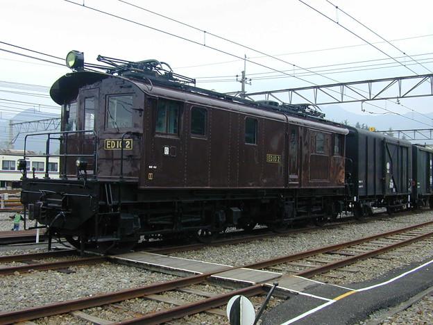#9165 旧国鉄ED10 2+貨車 2002-10-19