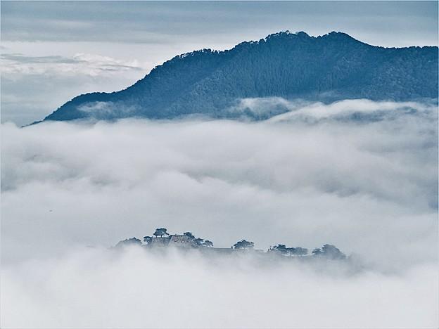 立雲峡から竹田城跡