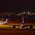夜間空港撮影