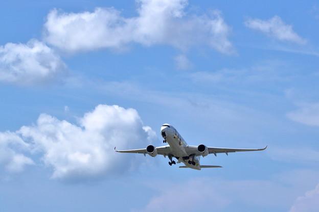 羽田空港へ向け離陸