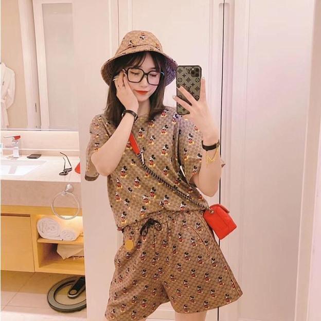 GG ディズニー コラボ シャツ スカート 2点セット 大人 女 洋服 夏 おしゃれ 綿製 激安