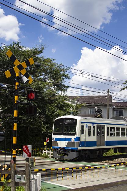 夏空色の電車