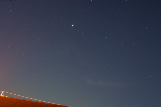 窓から南の星空(木星と土星)