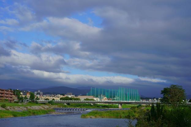 犀川 雪見橋 雲