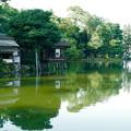 内橋亭  霞が池に佇む(浮かぶように)