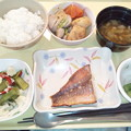2月25日夕食(赤魚の粕漬け焼き) #病院食