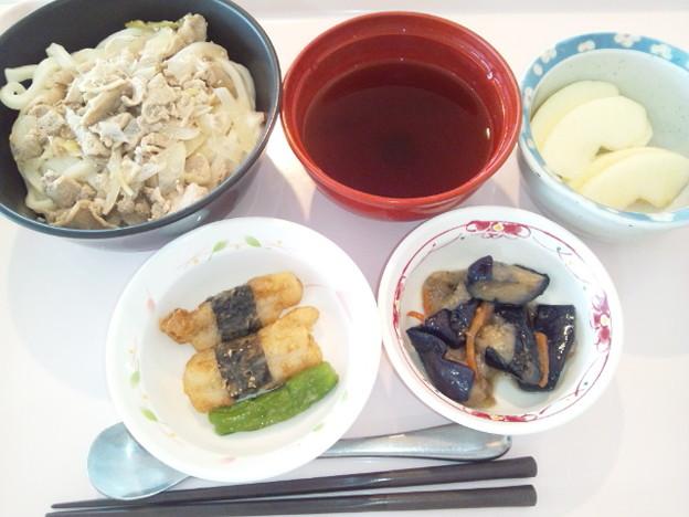 2月26日昼食(肉うどん) #病院食