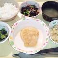 Photos: 2月26日夕食(和風おろしハンバーグ) #病院食