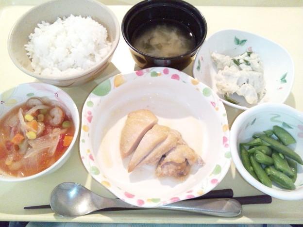 2月27日夕食(鶏肉のソテーガリバタソース) #病院食