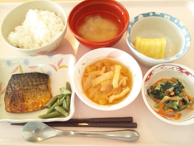 2月27日昼食(鯖のピリ辛焼き) #病院食