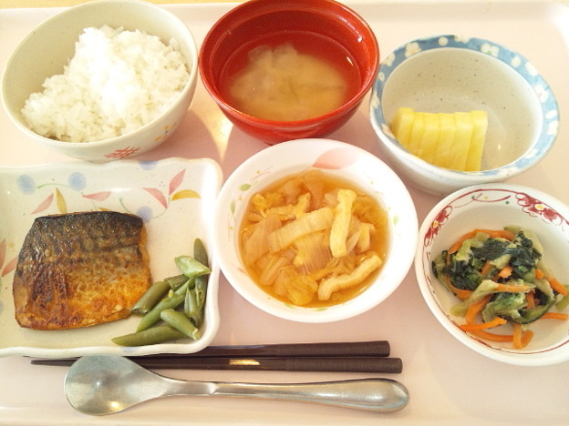 Photos: 2月27日昼食(鯖のピリ辛焼き) #病院食